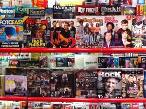 Foto: Musikzeitschriften in Bahnhofsbuchandlung