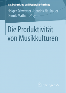 """Buchcover Themenband """"Die Produktivität von Musikkulturen"""""""